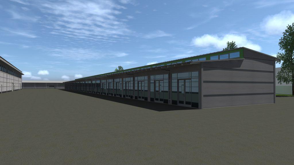 200 m² raktár